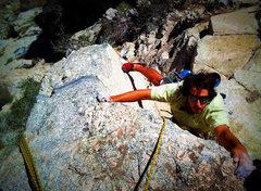 """Rock Climbing Photo: Matt on his """"The Dead Terrorist"""""""