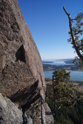 Rock Climbing Photo: The Springboard. Walk out to the wall and traverse...