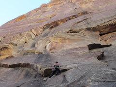 Rock Climbing Photo: First pitch slab.