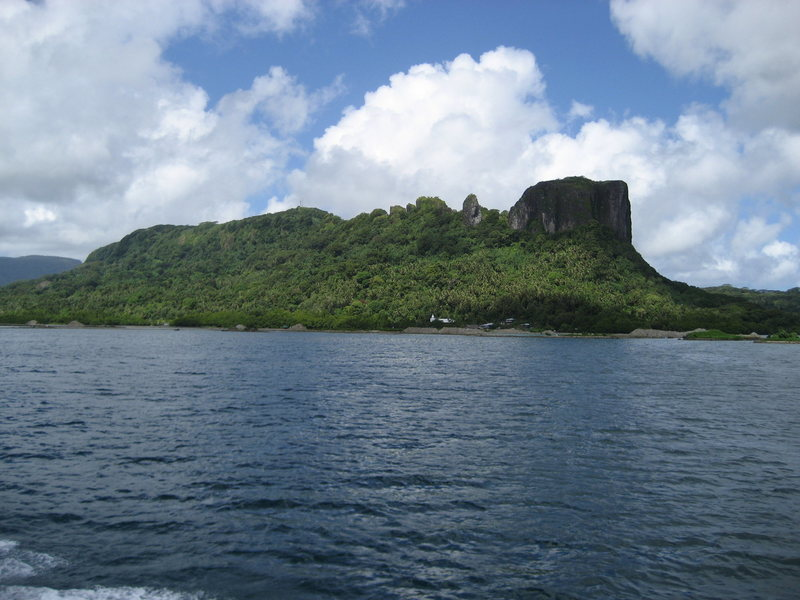 Sokehs Island, Pohnpei, FSM. Sokehs Ridge, Adam's Apple, The Spire and Sokehs Rock (left to right)