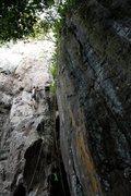 Rock Climbing Photo: my first ever lead climb