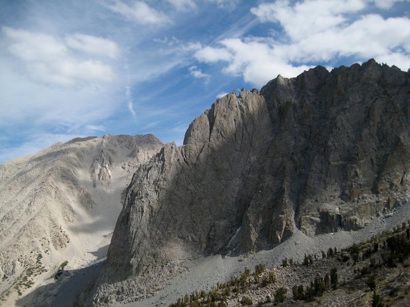 Rock Climbing Photo: Dark Star on Temple Crag, from the trail up to Gay...