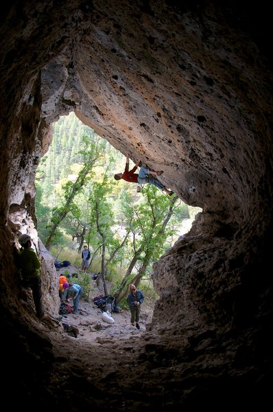 Rock Climbing Photo: Walt getting some Pogue's Arete action. October 20...