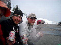Rock Climbing Photo: Rainier Beer!