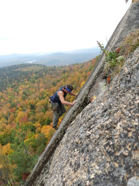 Rock Climbing Photo: Enjoying the featured slab on A Walk on the White ...