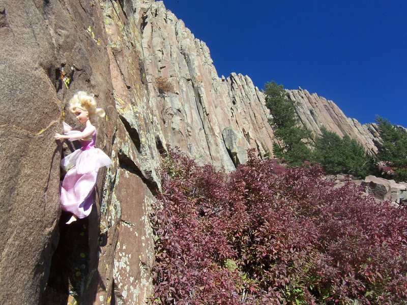 Rock Climbing Photo: Obscure crag?  Come on, even Princess Barbie climb...