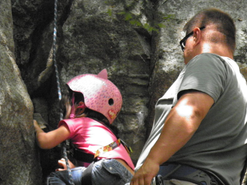 Rock Climbing Photo: ally workin hard @ age 5