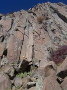 Rock Climbing Photo: This is what the route looks like after the leader...