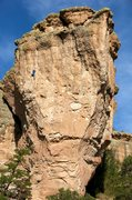Rock Climbing Photo: A late-day ascent of Jabberwocky as seen from the ...