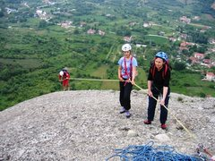 Rock Climbing Photo: Austrian guide and clients in Meteora, Greece