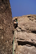 Rock Climbing Photo: Making my way up the dihedral that starts pitch on...