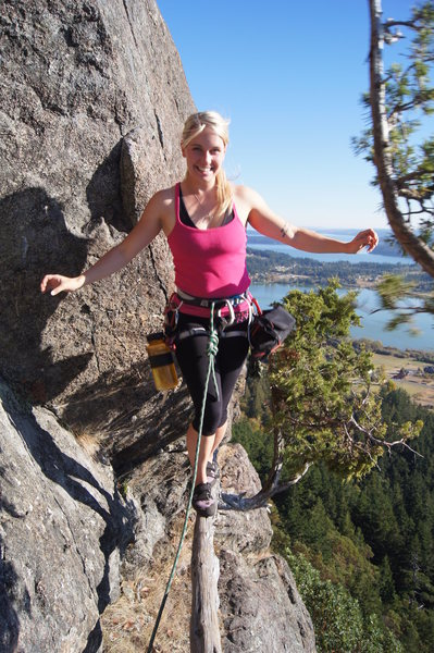 Rock Climbing Photo: My wife enjoying the Springboard