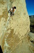 Rock Climbing Photo: Al Diamond leading Acid Crack, early 1980's.
