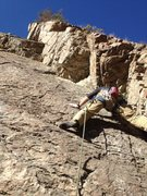 Rock Climbing Photo: The route from the belay. Sorry about the butt sho...
