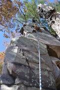 Rock Climbing Photo: Eric on-sights Aku Aku for himself, not the lens.