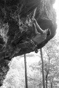 Rock Climbing Photo: ryan up high...