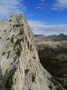 Rock Climbing Photo: descent as seen from the summit of Eichorn