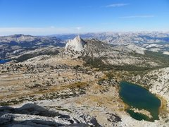 Rock Climbing Photo: Cathedral and Budd Lake from Echo Ridge