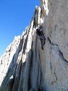 Rock Climbing Photo: Daniel almost through the crux section