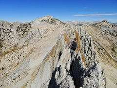 Rock Climbing Photo: onto the second half