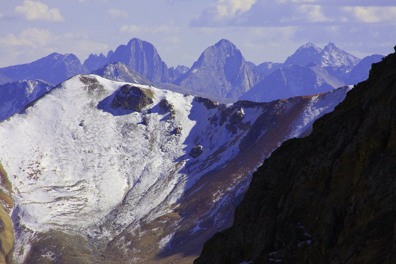 Rock Climbing Photo: The Grenadier Range seen from high in the Sneffels...