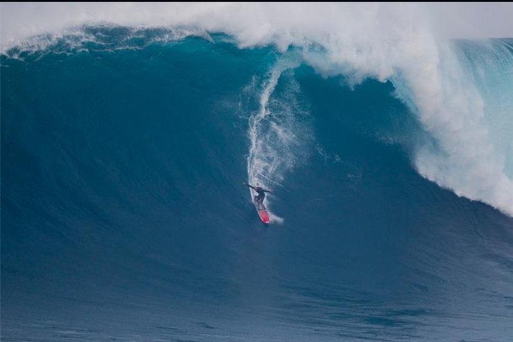 Rock Climbing Photo: Shane Dorian at Jaws 10/9/12