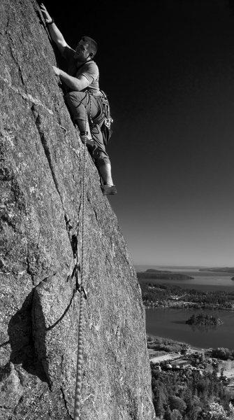 Rock Climbing Photo: Same as previous picture with horizon corrected, c...