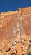 Rock Climbing Photo: Approaching the tower - P1 is the thin crack left ...