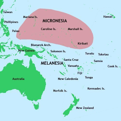 a map of micronesia