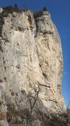 Rock Climbing Photo: Side view of la grande paroi jaune