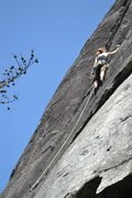Rock Climbing Photo: Gunboat Diplomacy, 5.10c/d, Rumbling Bald, NC