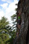 Rock Climbing Photo: A Fine Line, 5.7, Crowders Mountain, NC