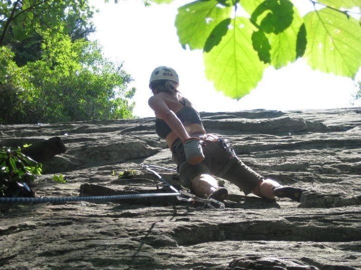 Rock Climbing Photo: Homegrown, 5.9, The Dump, NC
