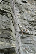 Rock Climbing Photo: Warpin Endorphins, 5.11b, The Dump, NC