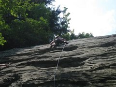 Rock Climbing Photo: Dancing with the Pope, 5.9, The Dump, NC