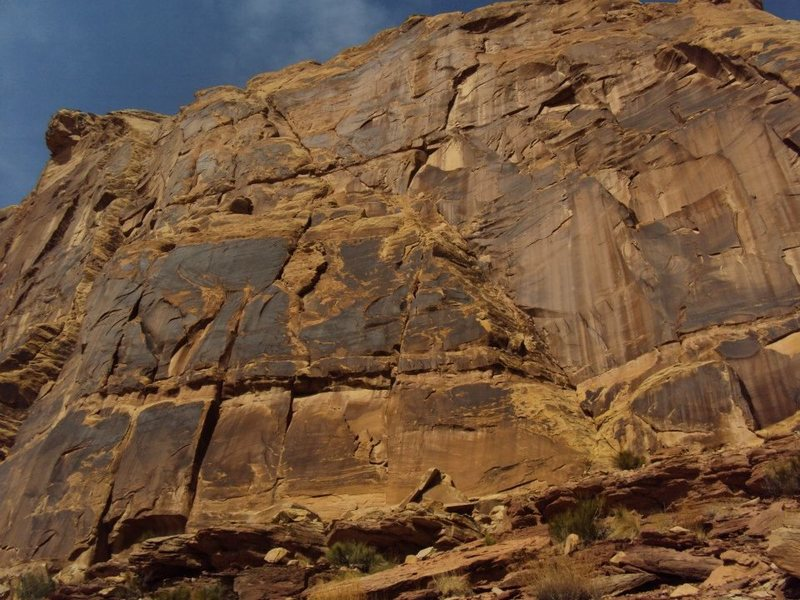 Rock Climbing Photo: Cougar Katie climbs this slab and dihedral.