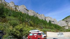 Rock Climbing Photo: a sweet van...and the sector 'chateau' as seen fro...