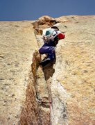 Rock Climbing Photo: 7th or 8th pitch, this one has a 5.10 roof on it I...