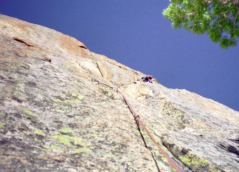 Rock Climbing Photo: The upper headwall I described