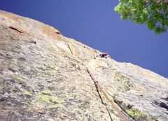 Rock Climbing Photo: The upper headwall I described