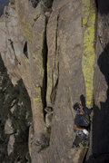 Rock Climbing Photo: Bobby Treadwell contemplating top-out of Jump Back...