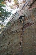Rock Climbing Photo: Dan sewin' it up