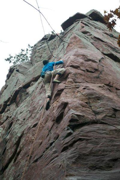 Rock Climbing Photo: Clayton's send on Gills Nose