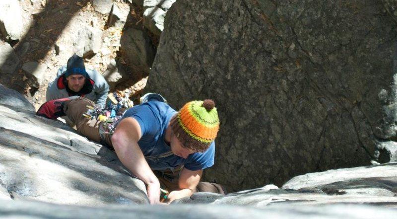 Rock Climbing Photo: James on Tarantula 5.10b