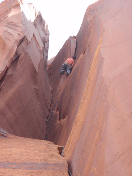 Rock Climbing Photo: Jake getting close to the business!