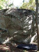 Rock Climbing Photo: TM in chalk