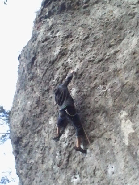Holmger working through the next tough section.