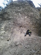 Rock Climbing Photo: Adrian resting after clipping the first fixed draw...