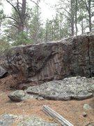 Rock Climbing Photo: Under-cling Problem boulder.