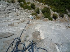 Rock Climbing Photo: Looking down pitch 2 on Beauty